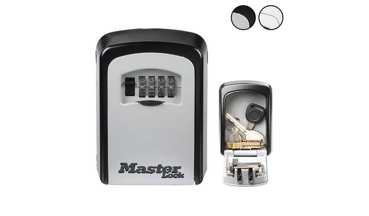 Master Lock 8cm Mounted Key Safe with Combination Lock
