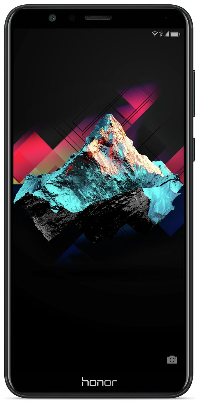 Image of Sim Free Honor 7X Mobile Phone - Black
