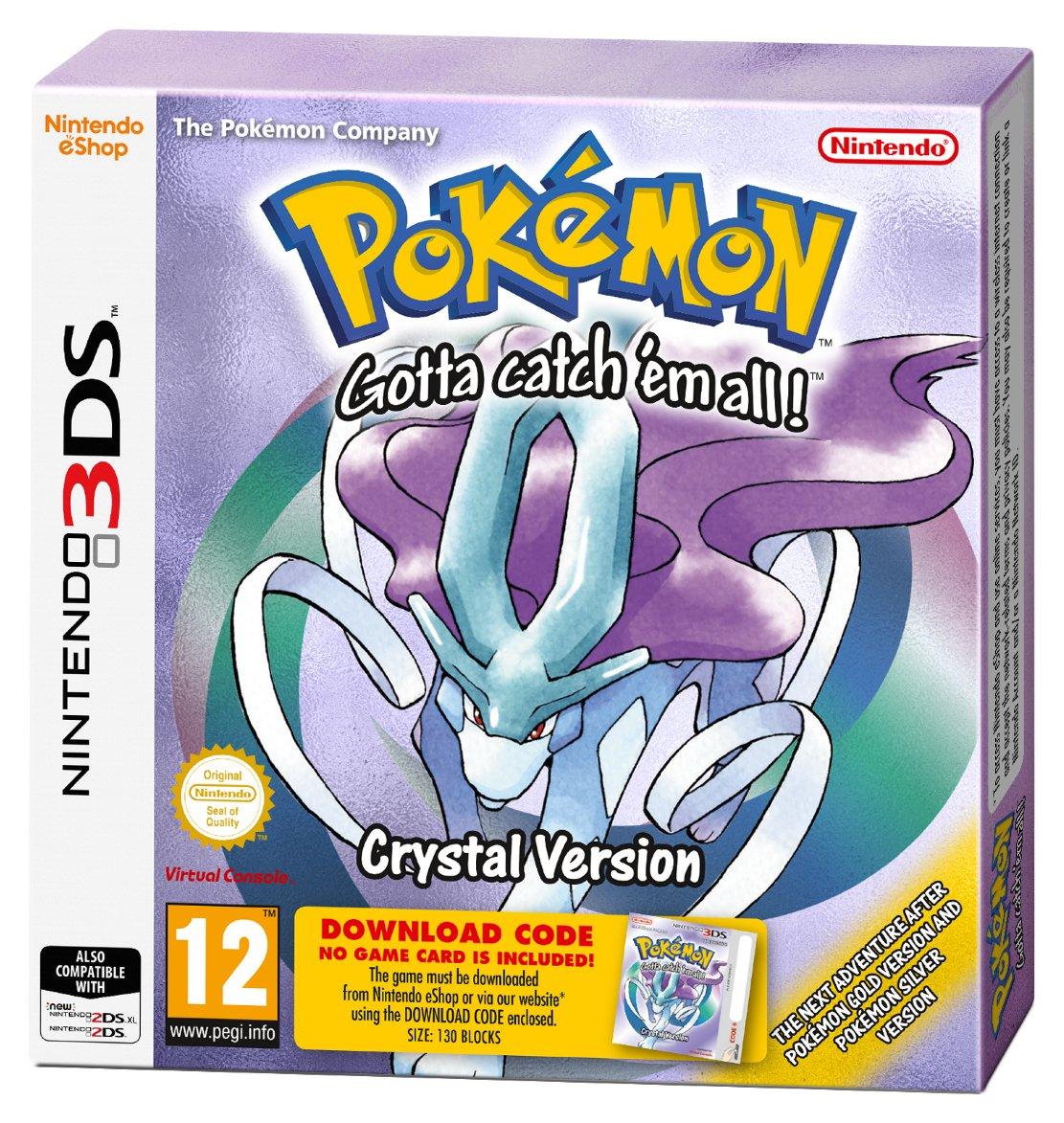Pokemon Crystal Nintendo 3DS Game