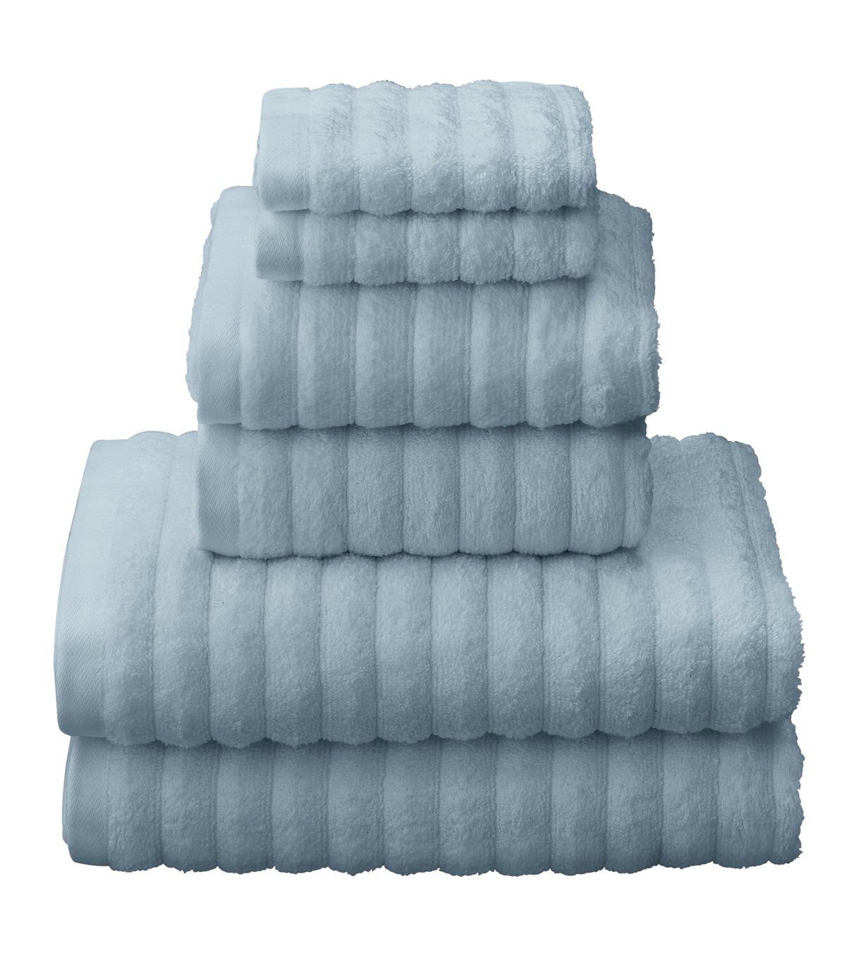 Argos Home Quick Dry 6 Piece Towel Bale - Sky