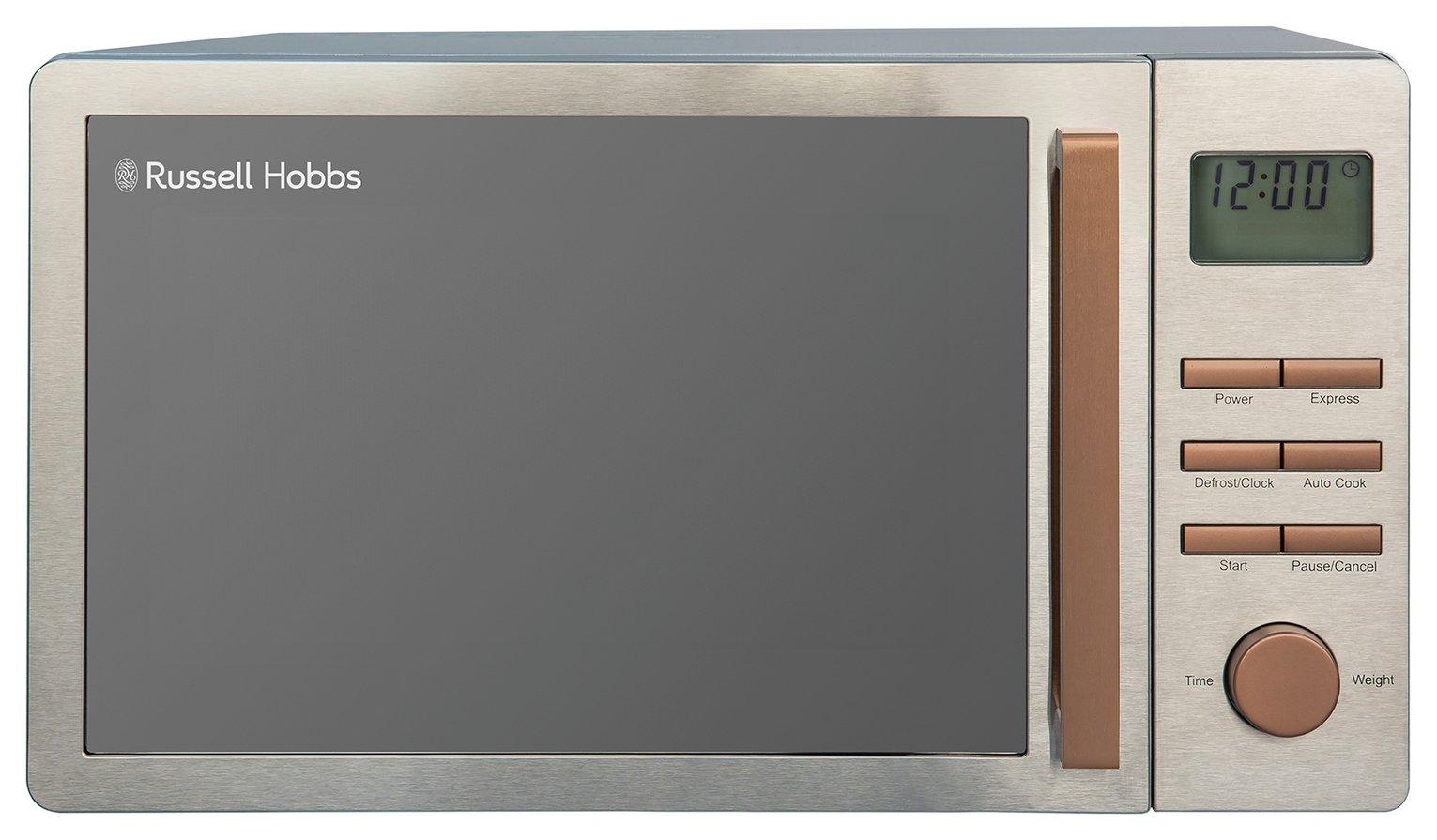 Russell Hobbs Luna 800W Standard Microwave RHMDL801CP Copper