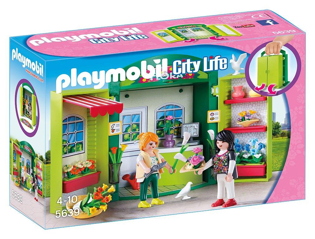 Playmobil 5639 City Life Flower Shop Play Box