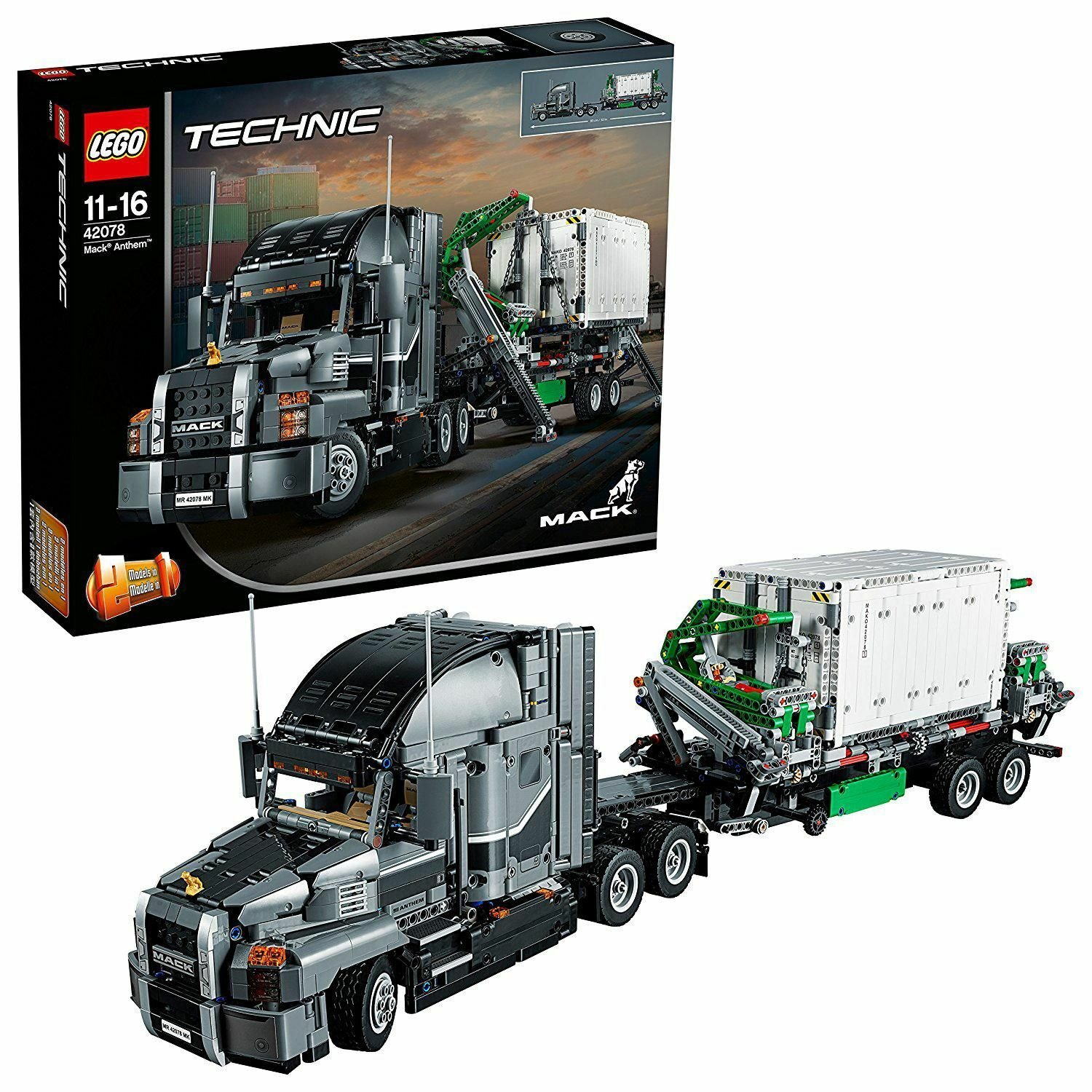 Image of LEGO Technic Mack Anthem Truck - 42078