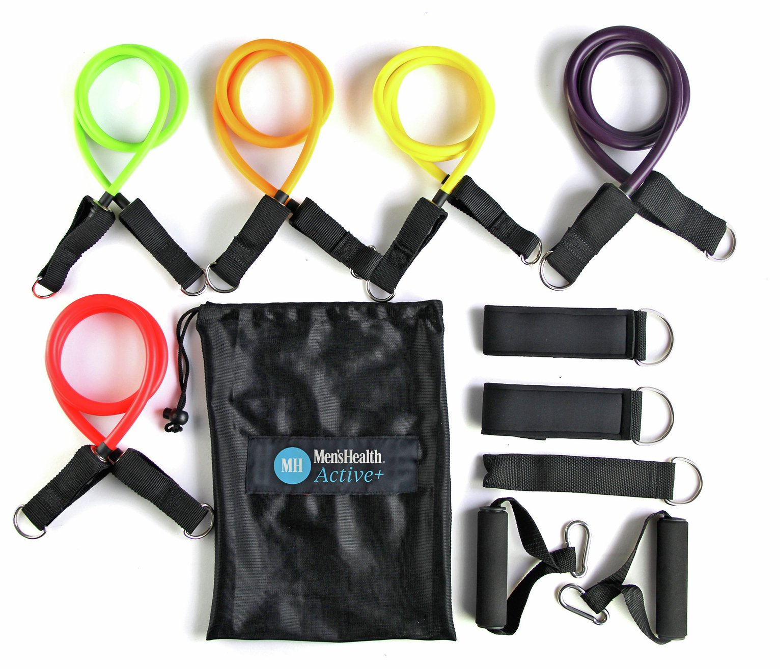 Men's Health Resistance Band Tube Set - 5 Pack