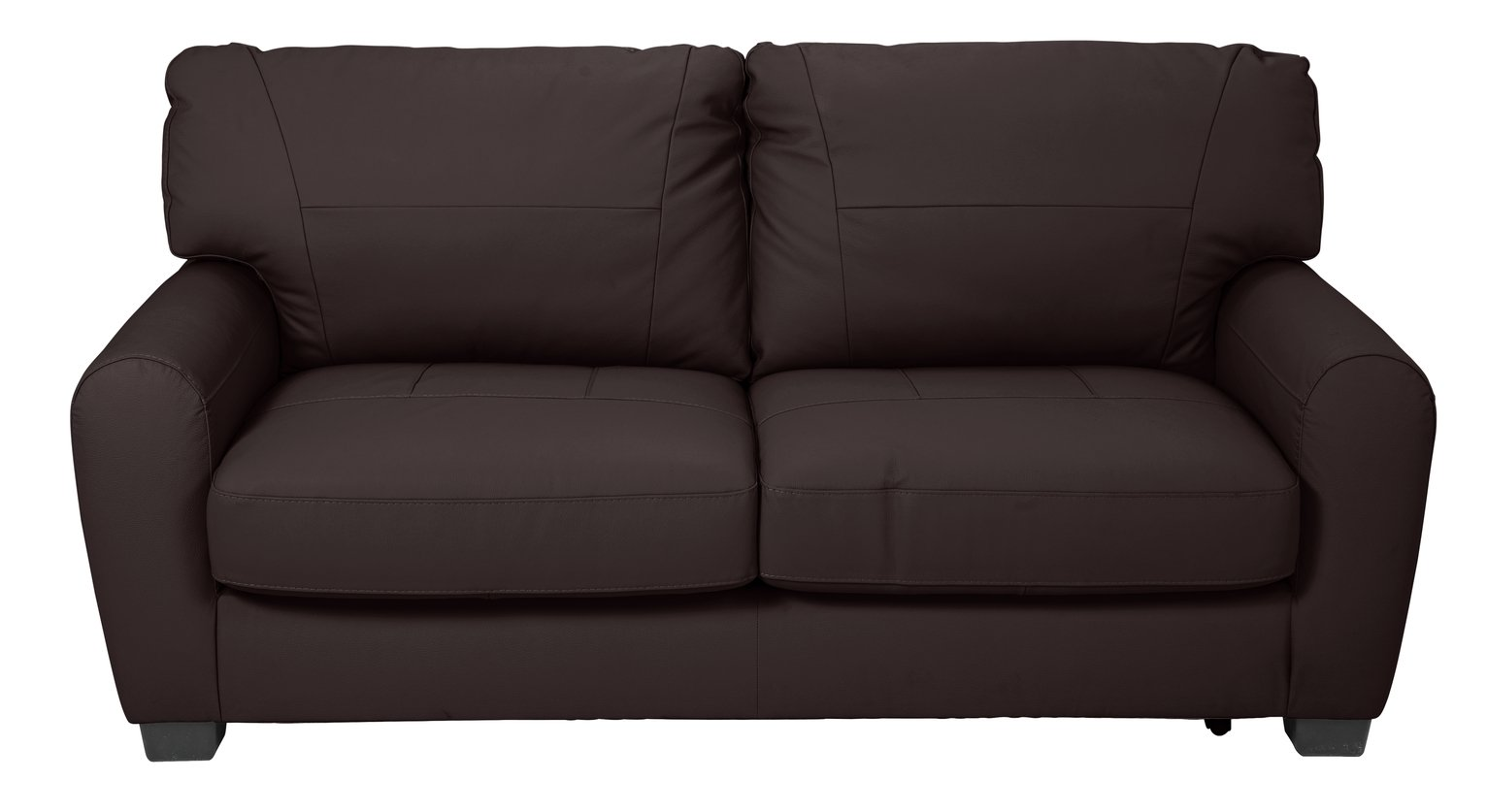 Argos Home Stefano 2 Seater Faux Leather Sofa Bed -Chocolate