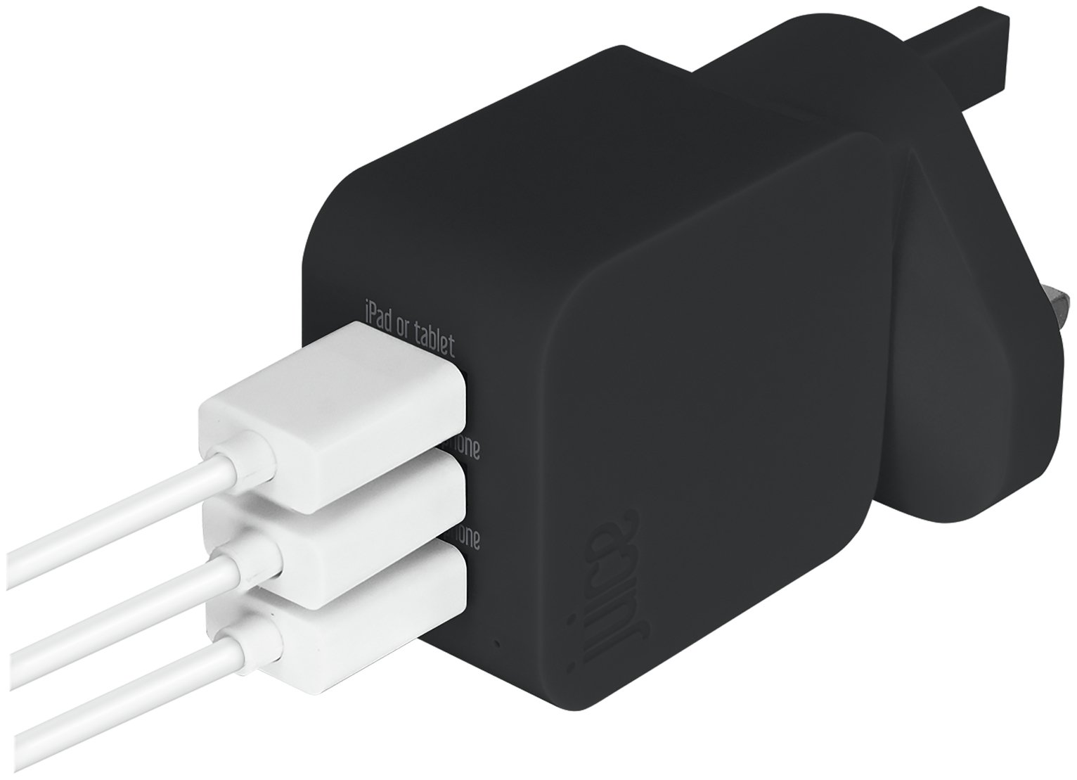 Juice Micro USB 2.0/3.0  Triple Wall Charger - Black