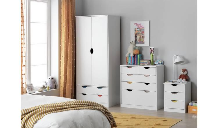 Buy Argos Home Pagnell 3 Piece 2 Door Wardrobe Set - White ...