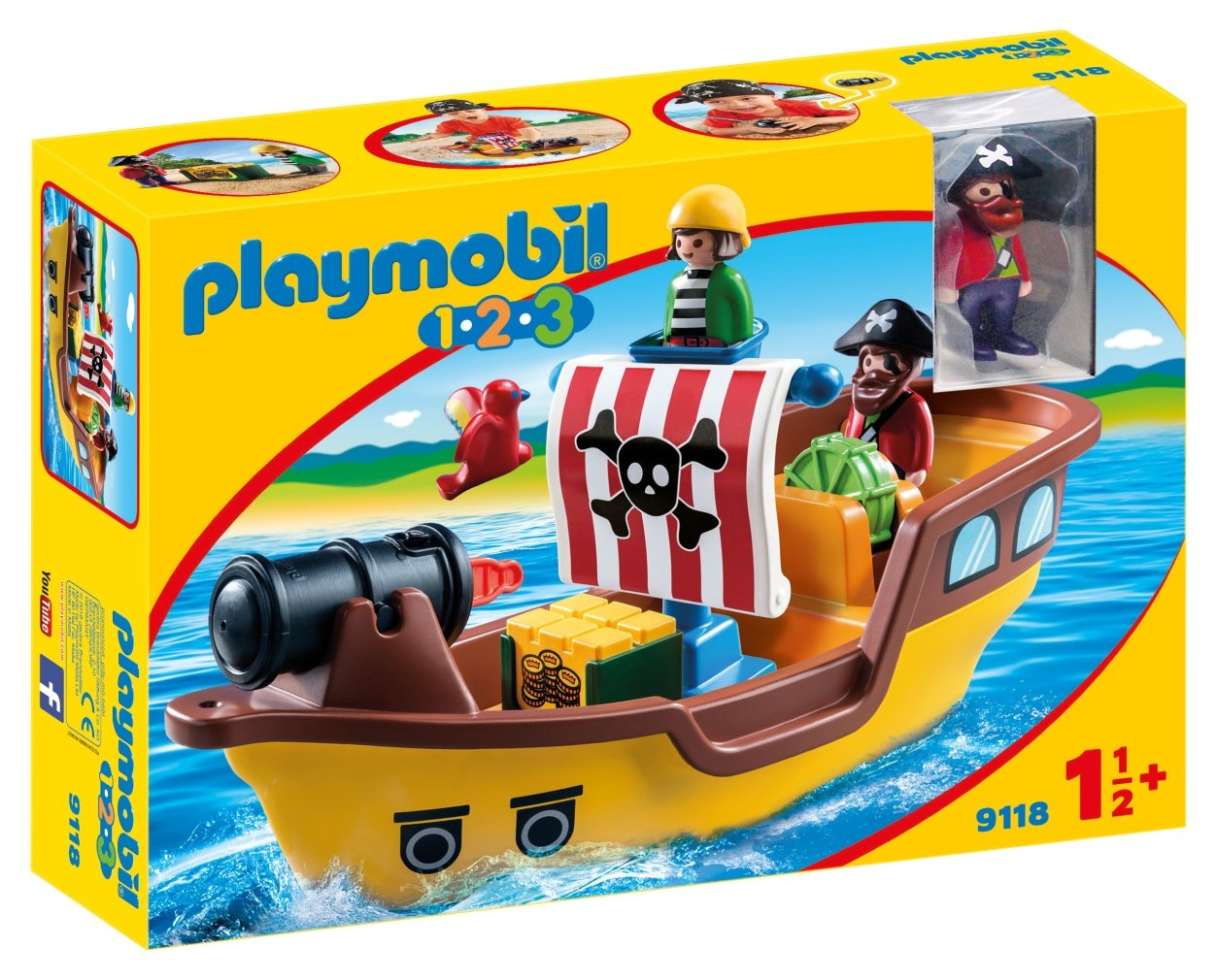 Playmobil 9118 1.2.3 Floating Pirate Ship