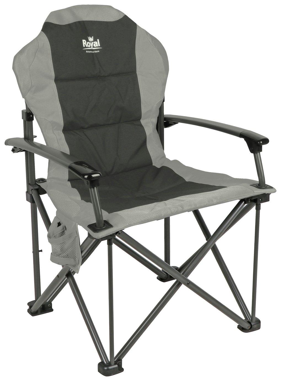 Royal Commander Camping Chair - Black/Grey