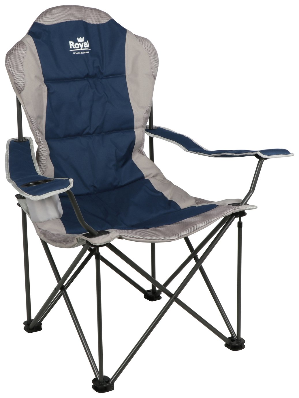 Royal President Camping Chair - Blue/Silver