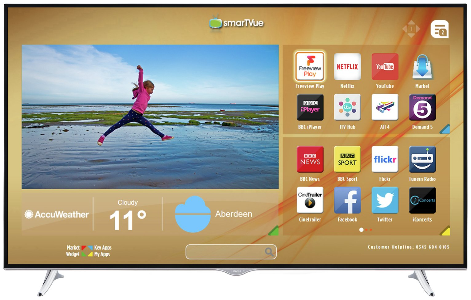Hitachi Hitachi 65 Inch Smart 4K UHD TV with HDR