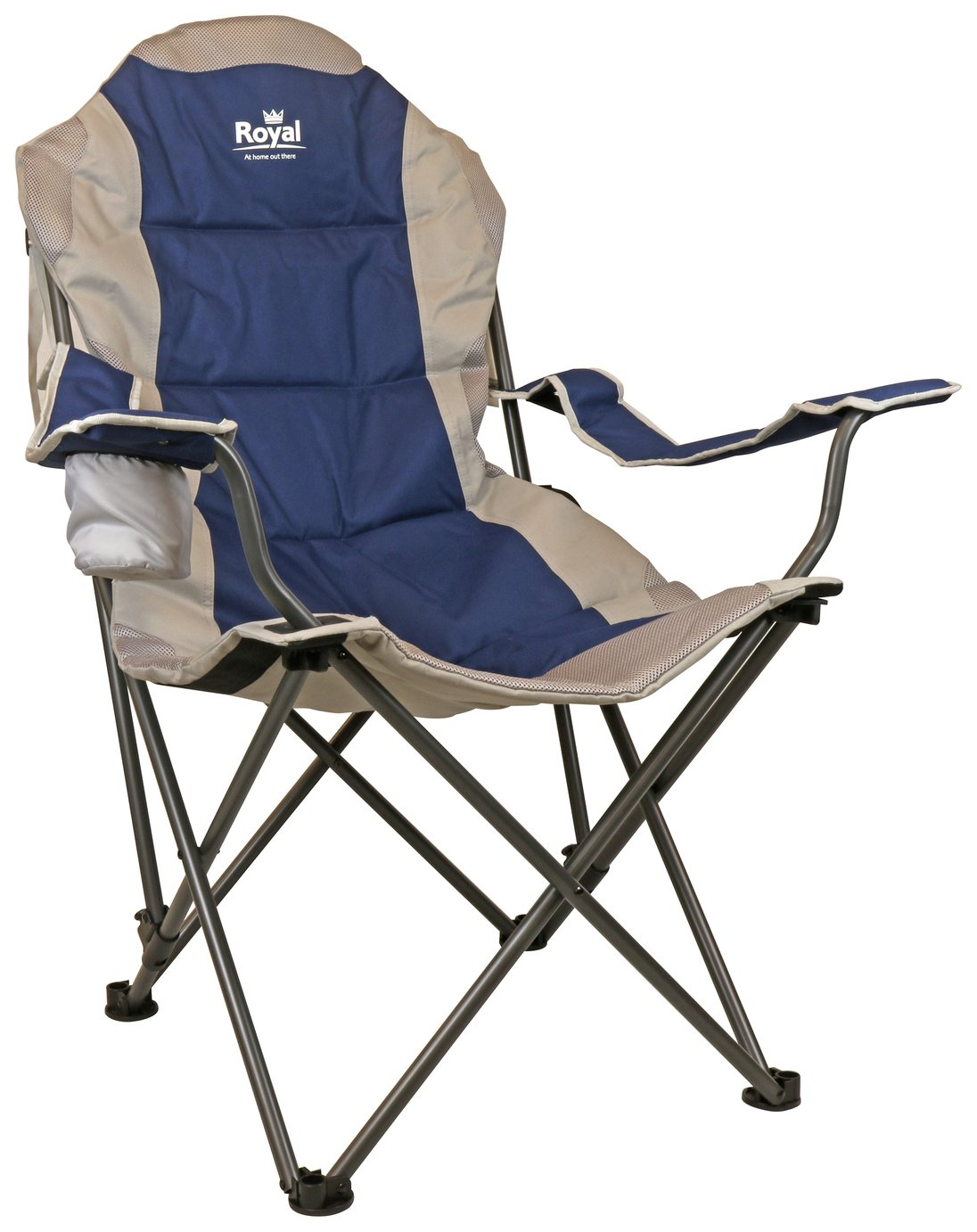 Royal Adjustable Camping Chair - Blue/Silver