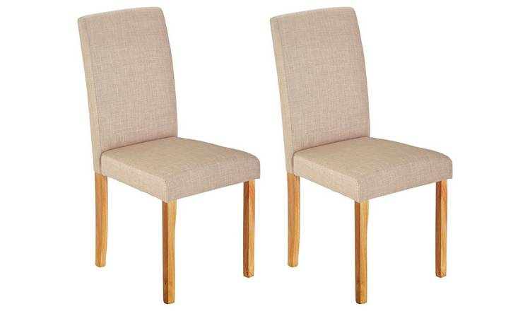 Marvelous Buy Argos Home Pair Of Mid Back Fabric Chairs Oatmeal Dining Chairs Argos Andrewgaddart Wooden Chair Designs For Living Room Andrewgaddartcom