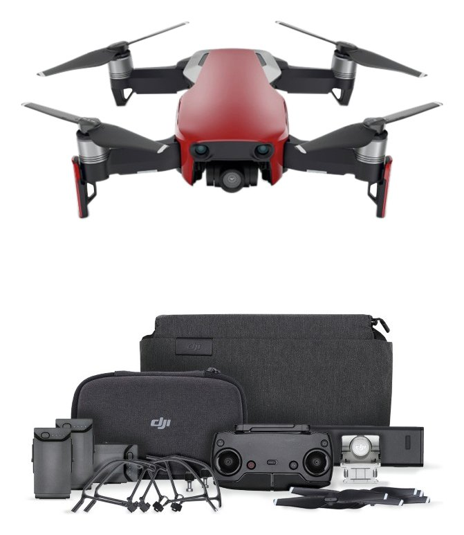 DJI Mavic Air Fly More Drone Combo - Flame Red