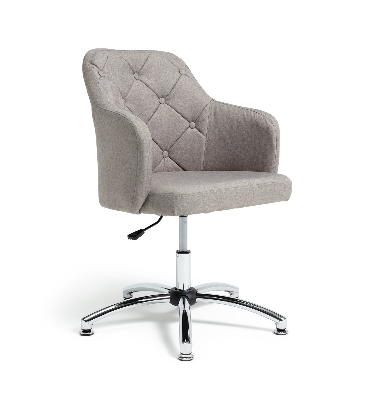 Argos Home Button Back Office Chair - Grey