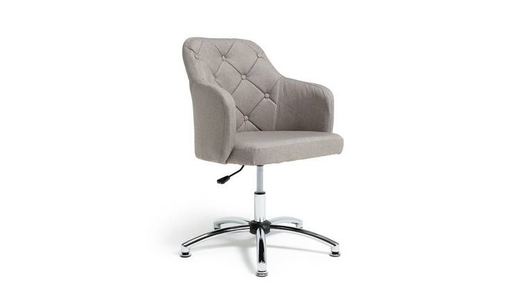 Habitat Button Back Fabric Office Chair - Grey