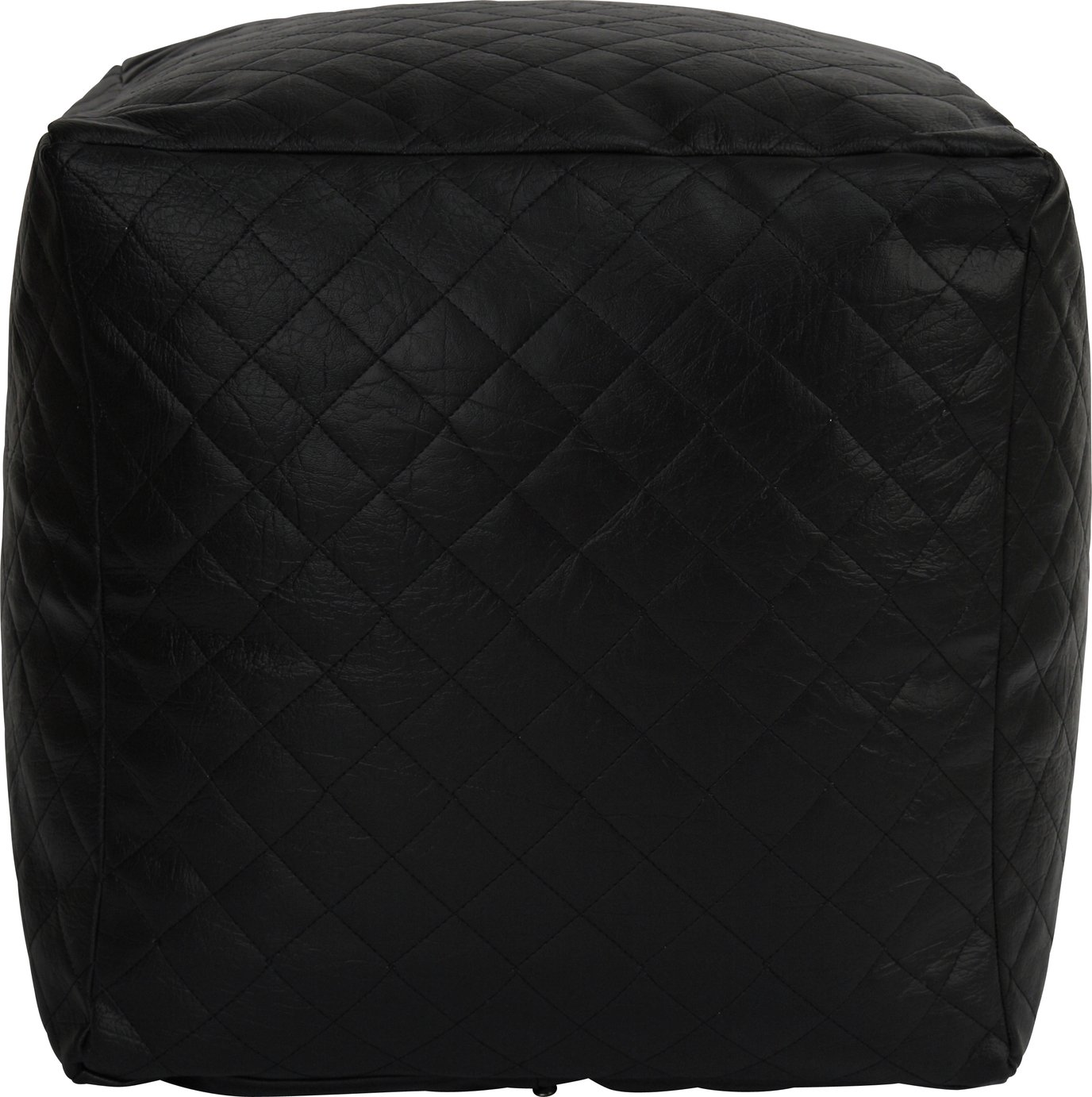 Argos Home Quilted Cube Beanbag - Black