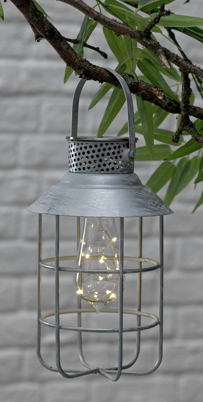Argos Home Solar Hanging Fisherman's Lantern - White