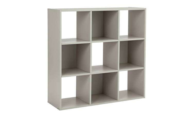 save off fb210 a8742 Buy Argos Home Squares 9 Cube Storage Unit - Grey | Bookcases and shelving  units | Argos