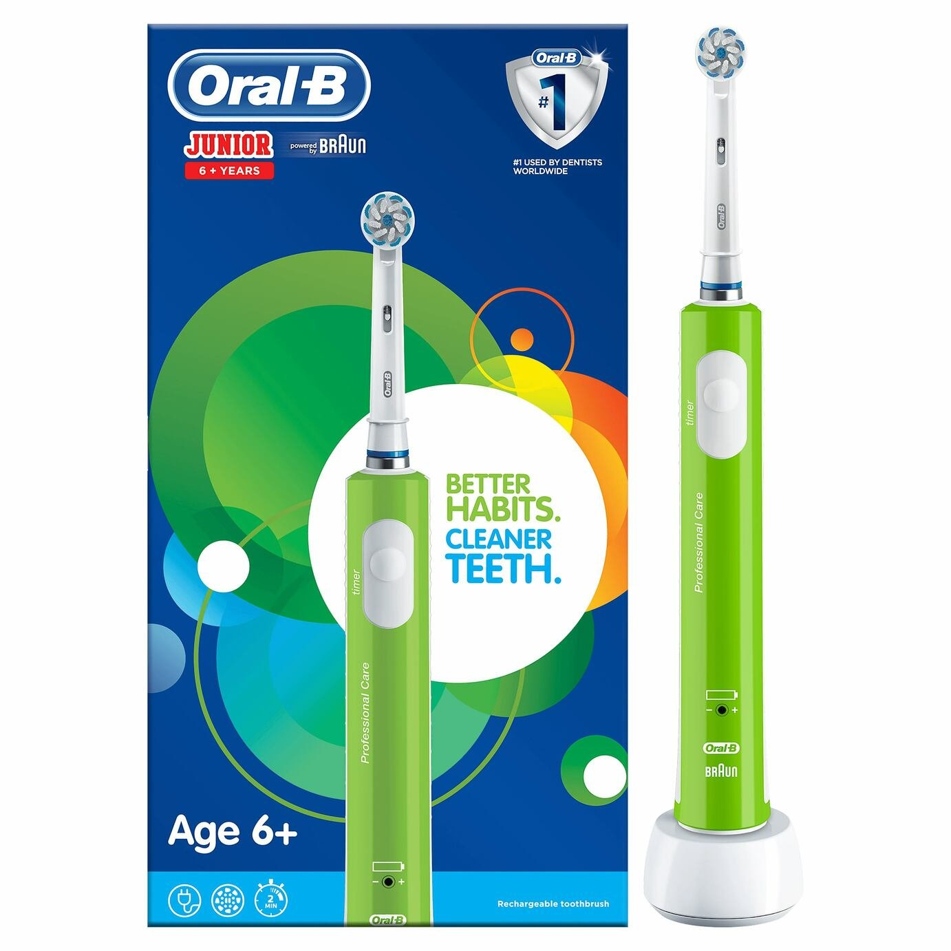 Oral-B Junior Kids Electric Toothbrush - Ages 6-12