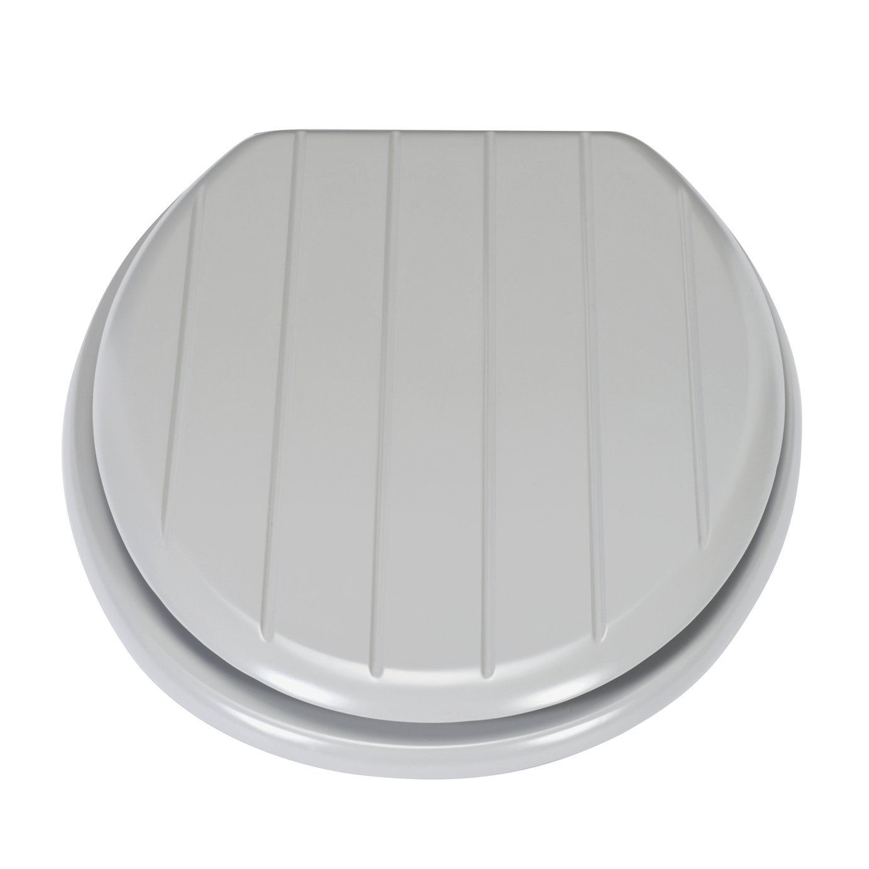 Argos Home Wood Veneer Toilet Seat Grey