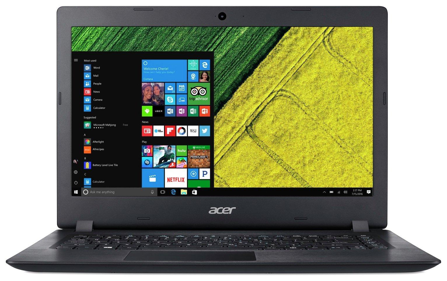 Image of Acer Aspire 3 14 Inch Pentium 4GB 128GB Laptop Bundle- Black