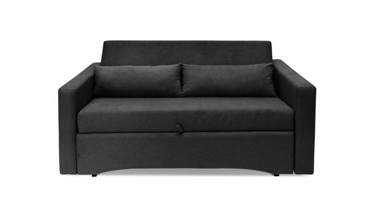 Argos Home Reagan 2 Seater Fabric Sofa Bed - Charcoal
