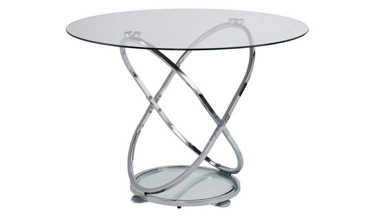 a9409b8c79 Buy Argos Home Atom Round Glass 4 Seater Dining Table | Dining ...
