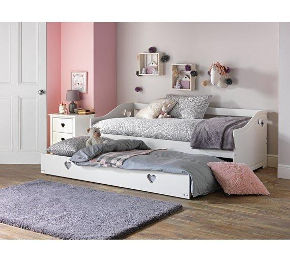 Mia Single Bed Frame White