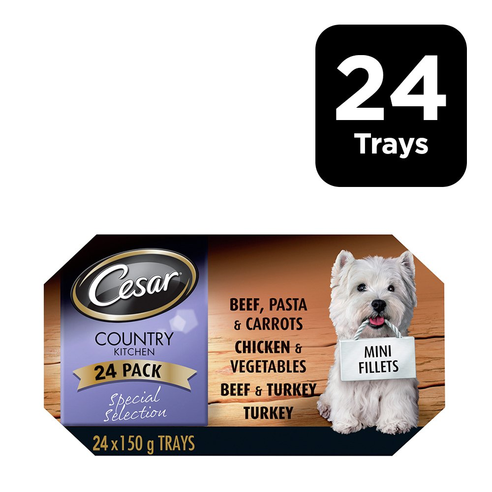 Image of CESAR Country Kitchen Dog Trays Special in Gravy - 24 x 150g