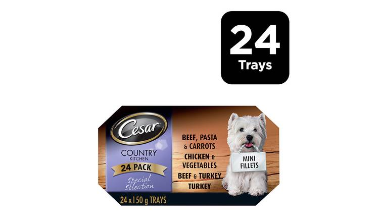 Cesar Country Kitchen Wet Dog Food in Gravy 24 Trays