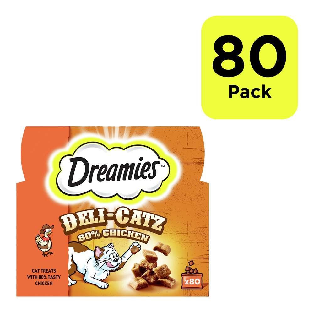 Image of DREAMIES Deli-Catz Cat Treats Chicken - 80x5g (400g total)