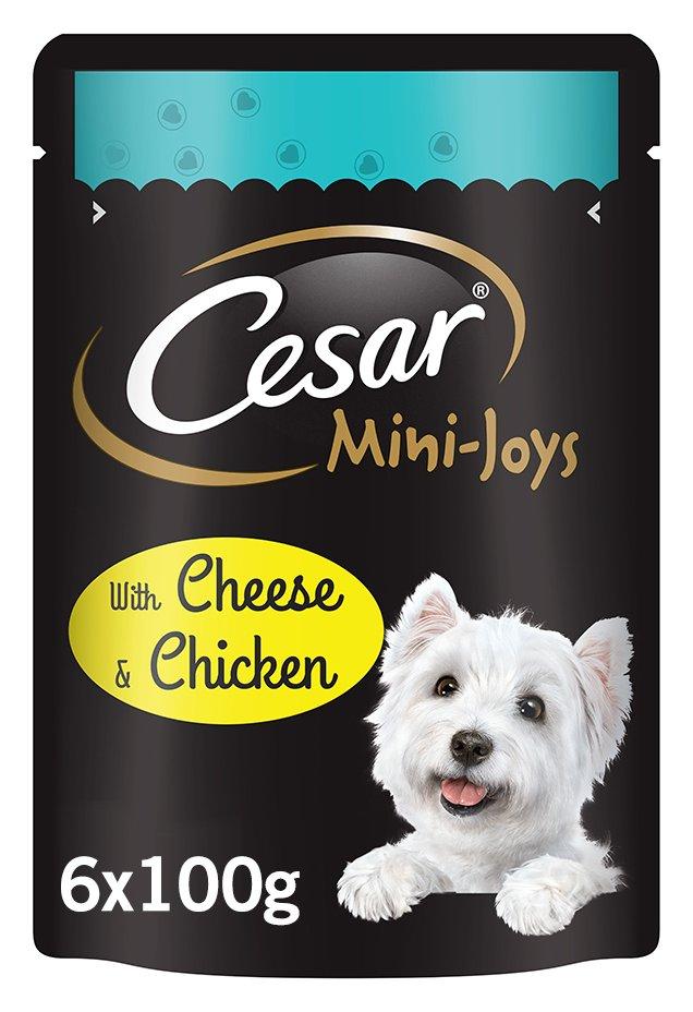 Image of CESAR Mini-Joys Dog Treats Cheese & Chicken - 6x100g