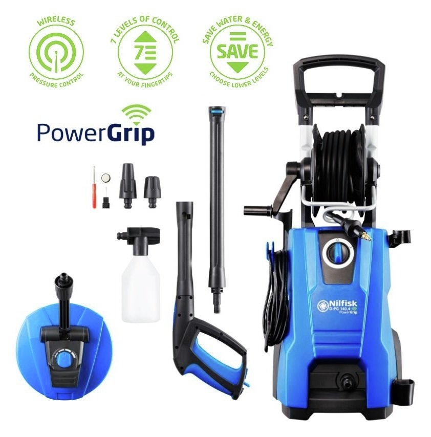 Nilfisk Powergrip 140 Patio Cleaner Pressure Washer - 2400W