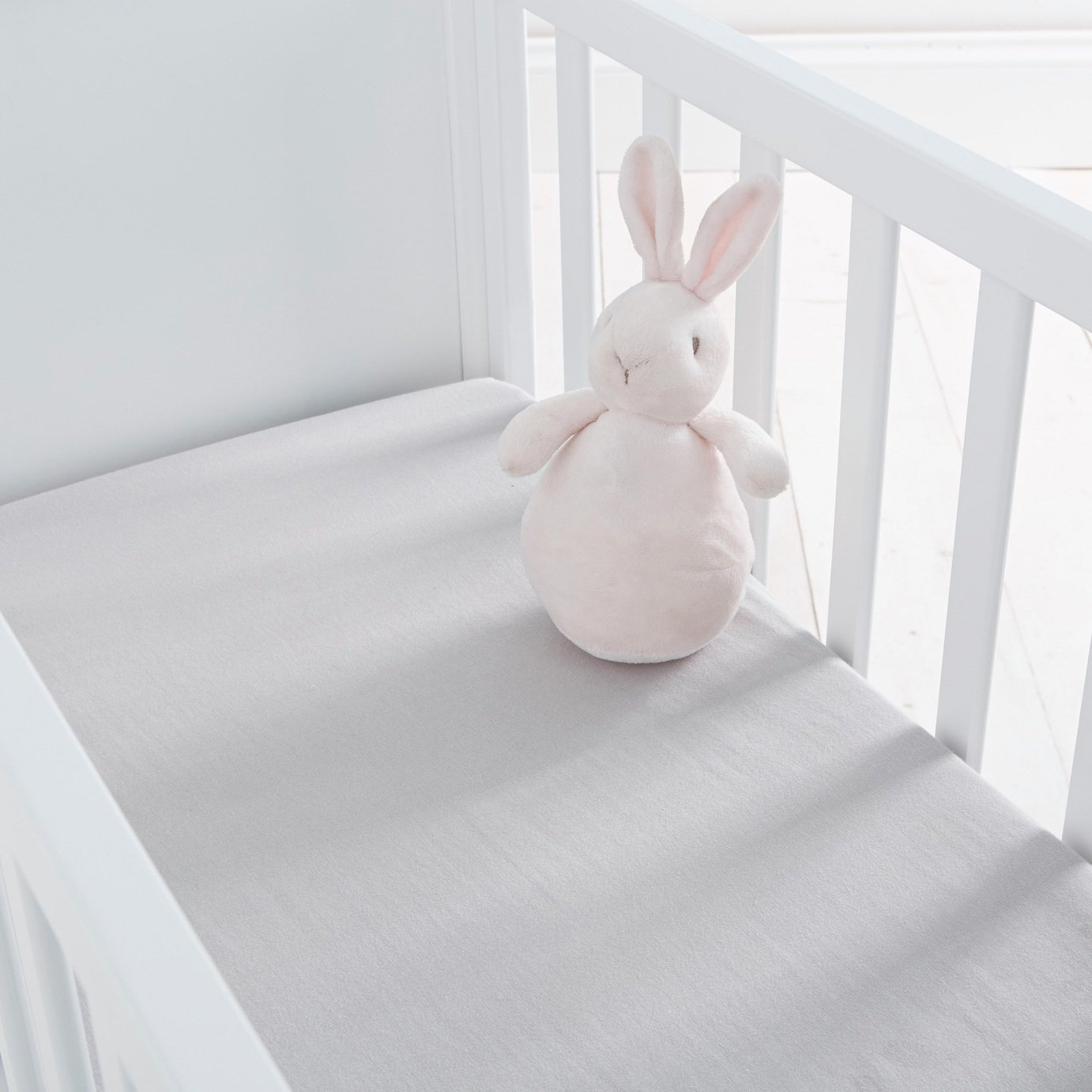 Silentnight Fitted Crib Sheet 2 Pack - Grey