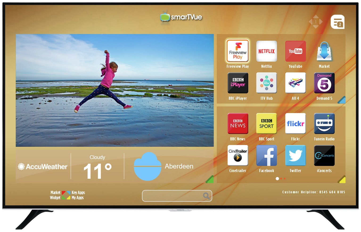 1fa42d4f18e Hitachi 75 Inch Smart 4K UHD TV with HDR (8043090)