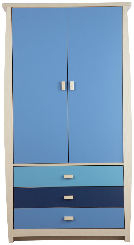 Image of GFW Sydney 2 Door 3 Drawer Wardrobe - Blue