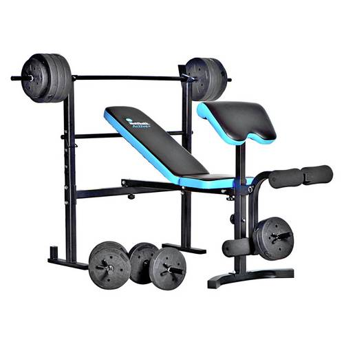 Buy Men S Health Folding Bench Preacher With 50kg Weights