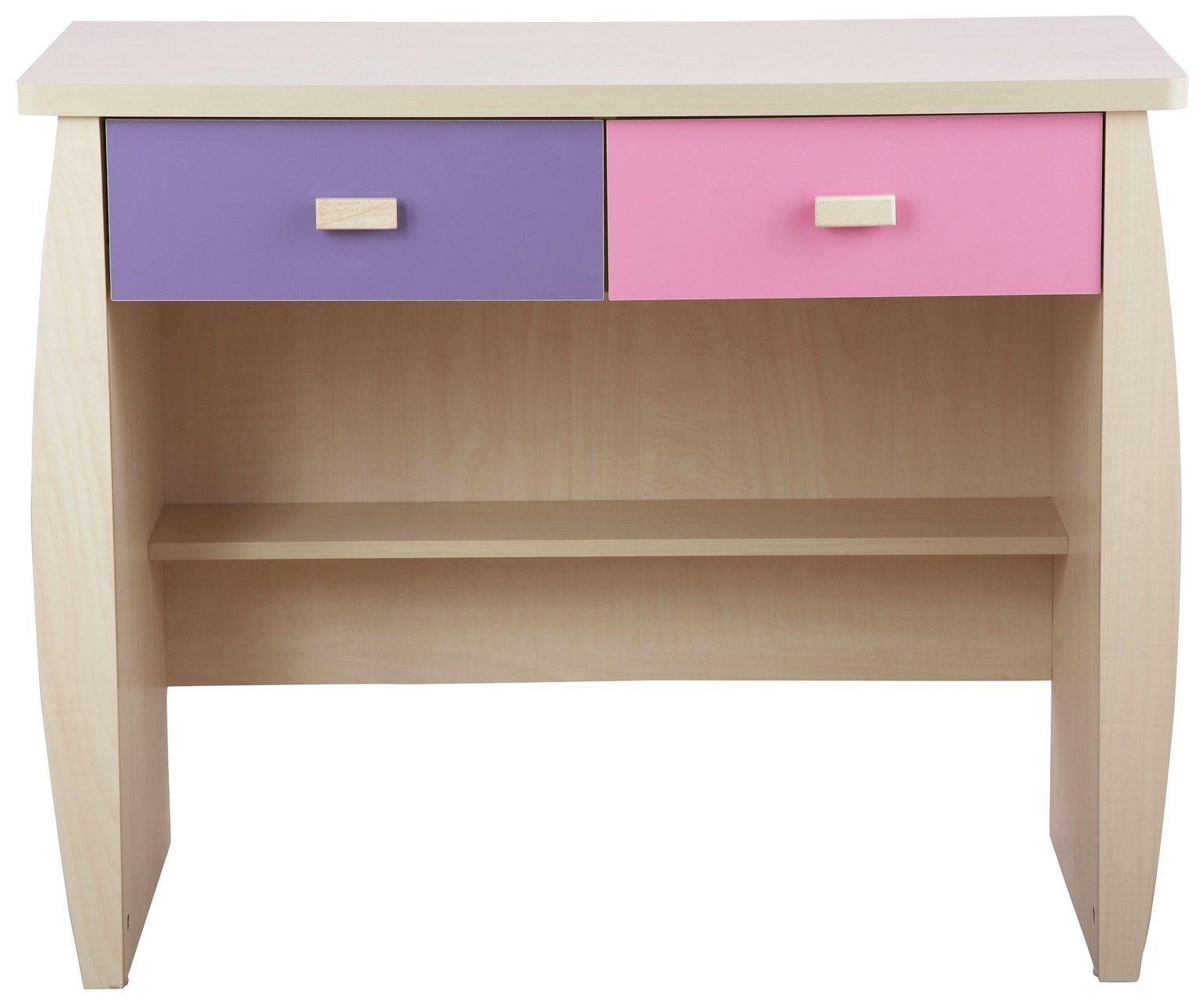 Image of GFW Sydney 2 Drawer Desk - Pink