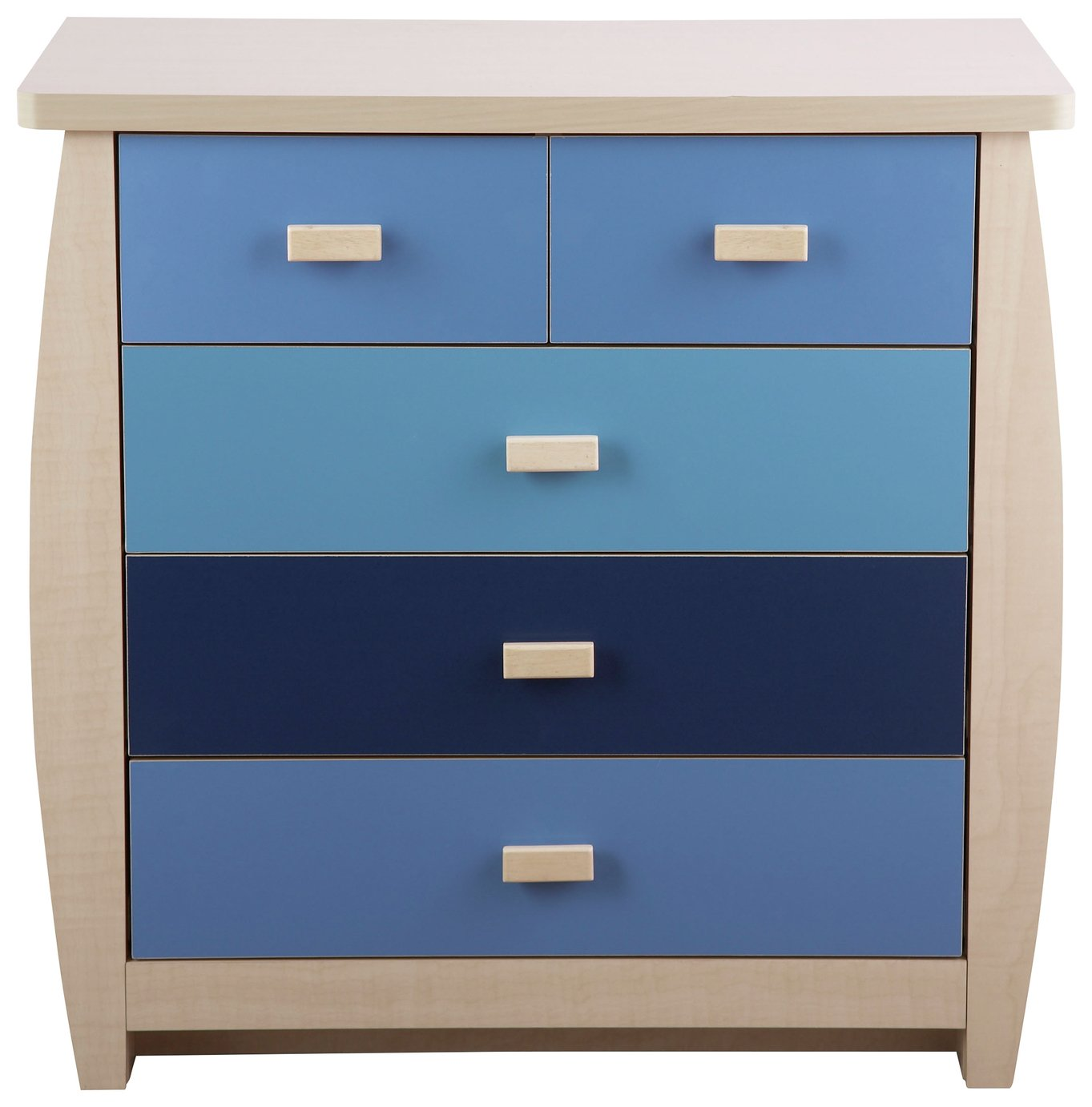 Image of GFW Sydney 3+2 Drawer Chest - Blue