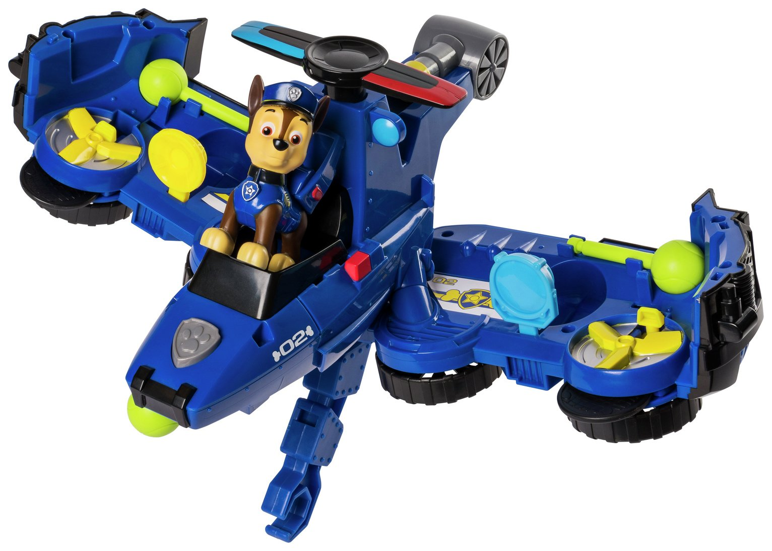 PAW Patrol Chase Flip & Fly Transforming Vehicle