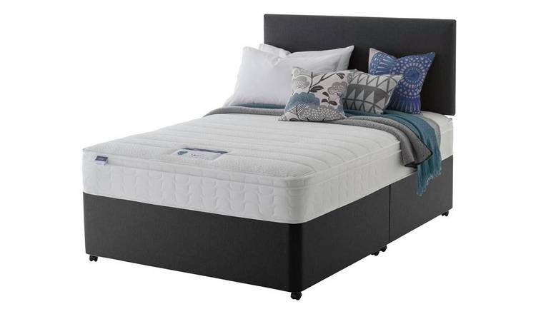 Buy Silentnight Travis Memory Cushion Top Divan Bed Superking Divan Beds Argos