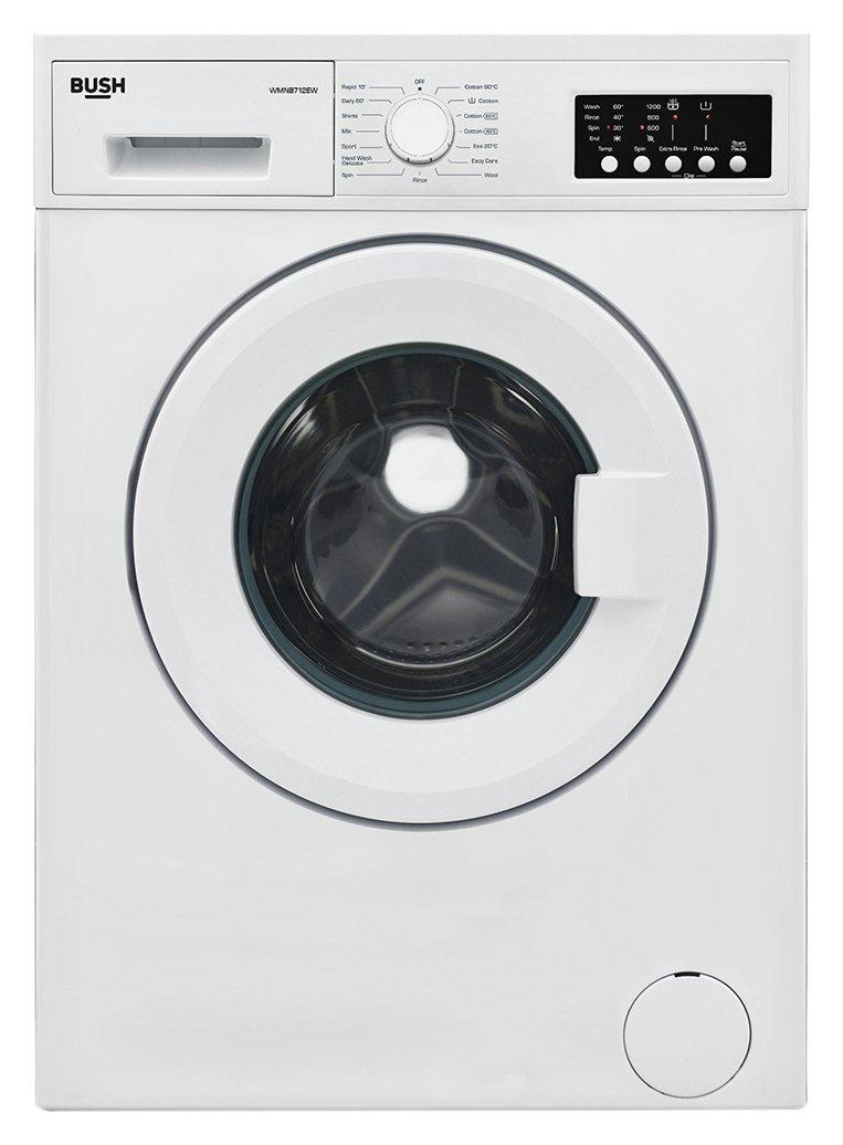 Sale On Bush Wmnb712ew 7kg Washing Machine White Bush