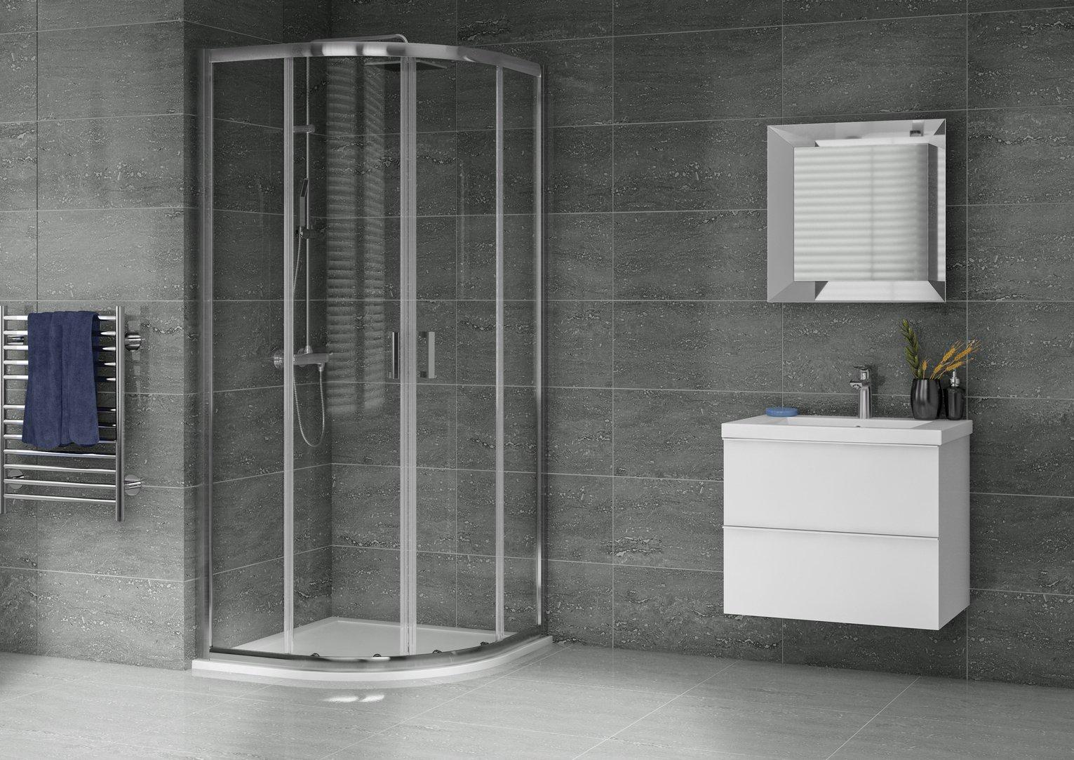 Aqualux 900mm x 900mm Quadrant Enclosure & Shower Tray