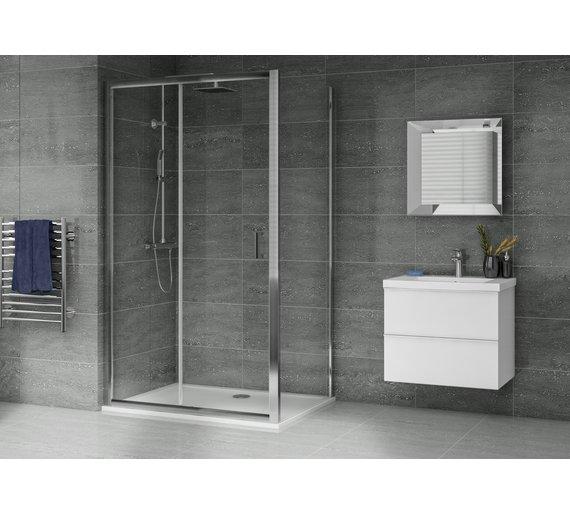 Aqualux 1200mm X 900mm Sliding Door Shower Enclosure Tray