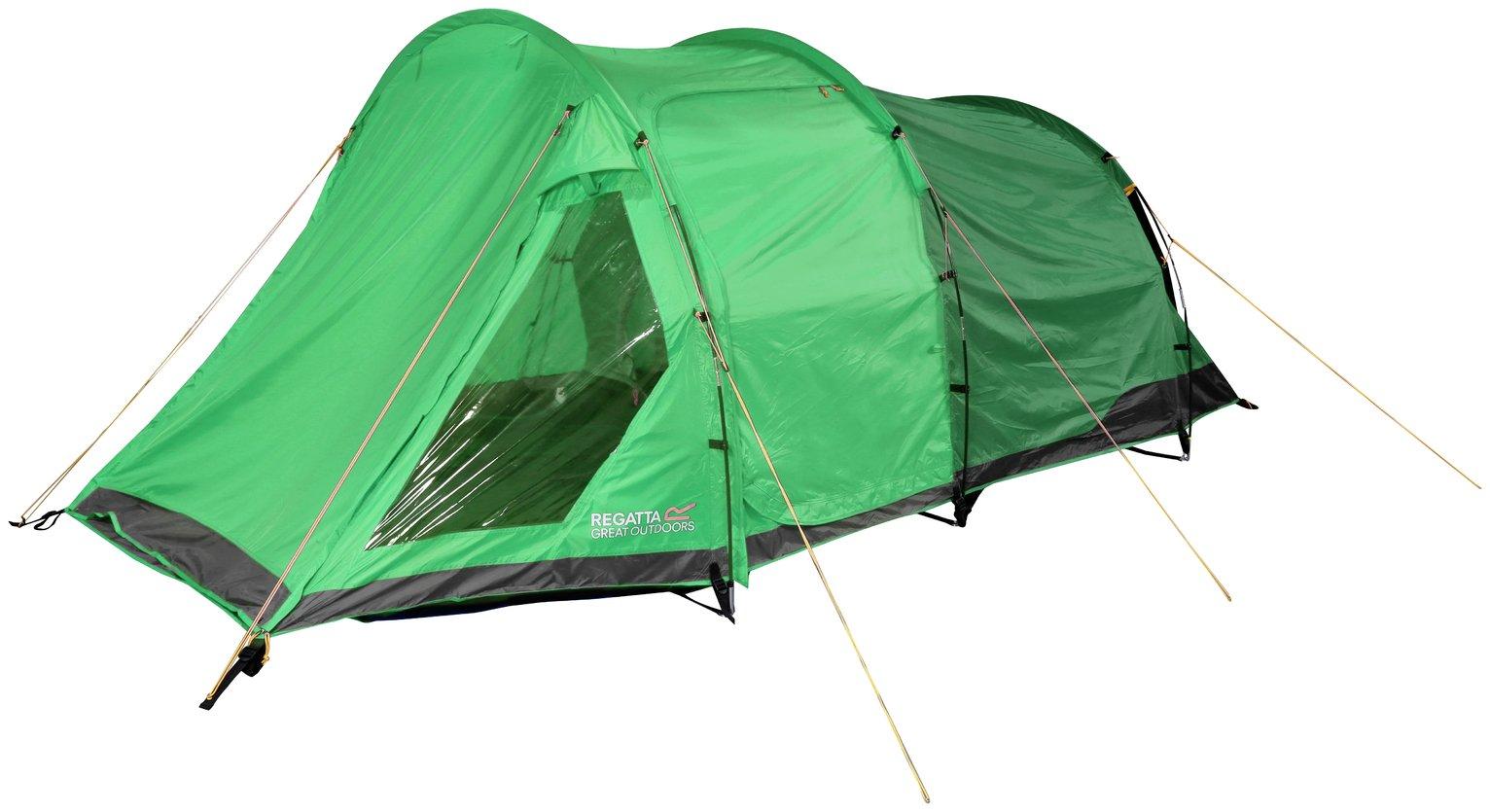 Regatta Vester 4 Man 2 Room Tent - Extreme Green