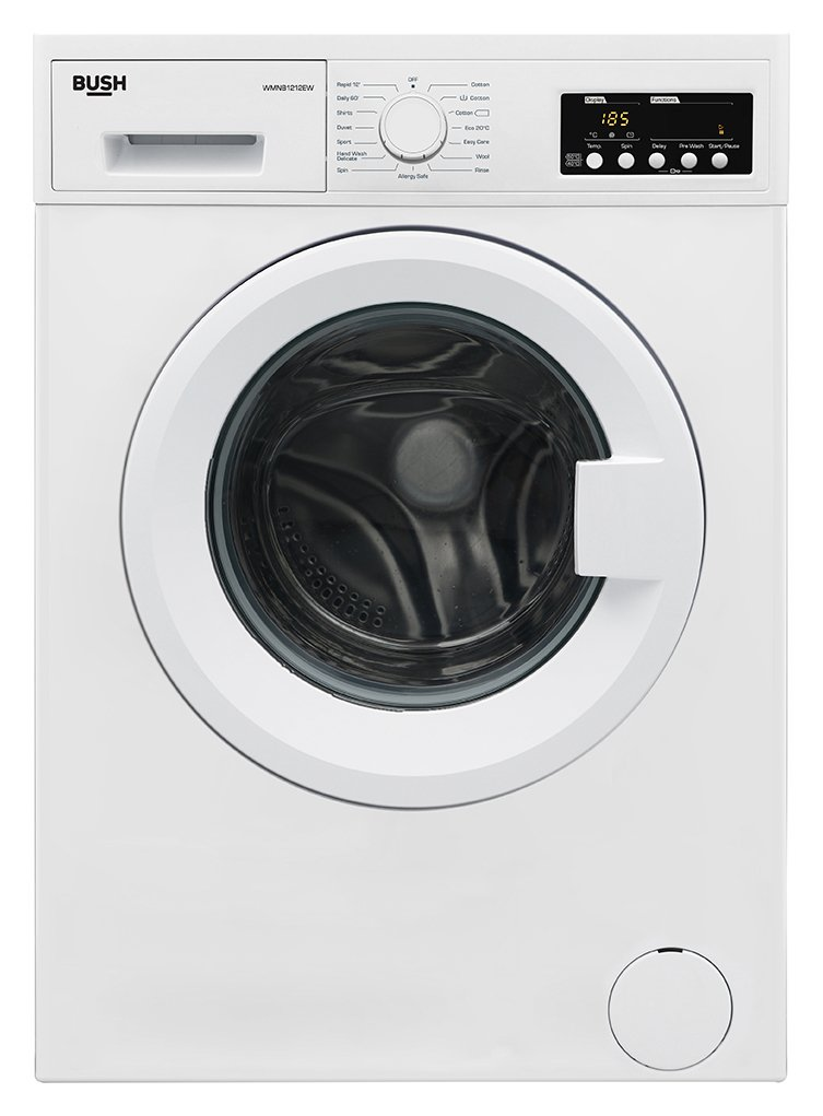 Image of Bush WMNB1212EW 12KG Washing Machine - White