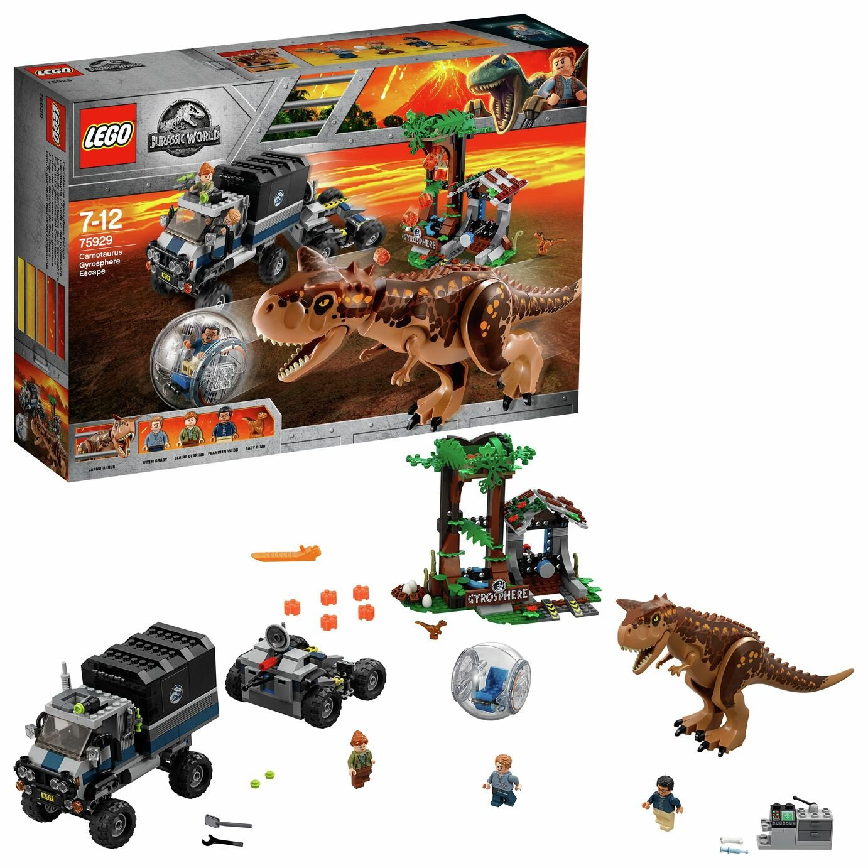 LEGO Jurassic World Carnotaurus Gyrosphere Escape Set- 75929
