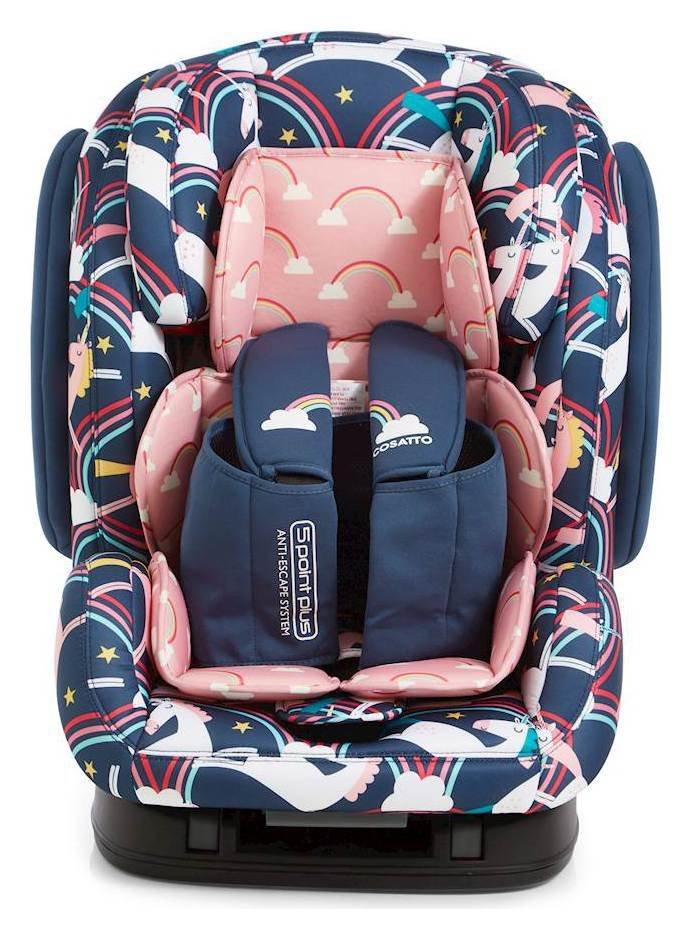 Image of Cosatto Hug Groups 1-2-3 ISOFIX Car Seat - Unicorns