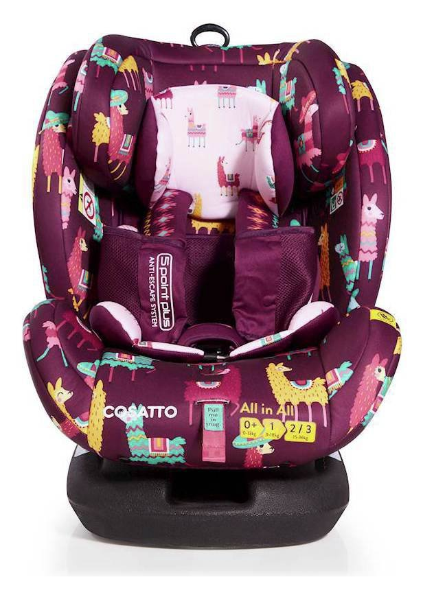 Image of Cosatto AllinAll Groups 1-2-3 ISOFIX Car Seat - Llama